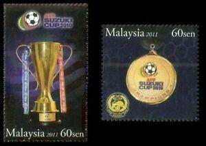 SJ-AFF-Suzuki-Cup-2010-Champion-Malaysia-2011-Football-Games-Sport-stamp-MNH