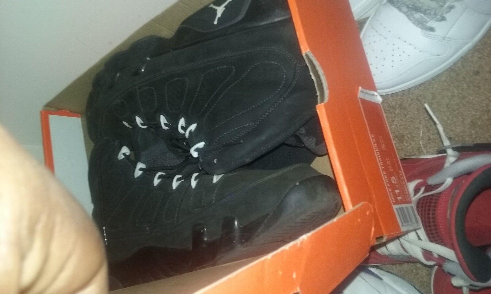 Air Jordan 9 Size 13 Men's Anthracite Gray Suede IV Grey Black White Retro