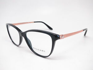 3a6d3abcab3 New Authentic Bvlgari BV 4108-B 501 Black and Rose Gold Eyeglasses ...