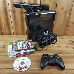Xbox 360 Console Bundle 250GB controlador Kinect S 5 juegos GTA 5 Lote de plomo de energía