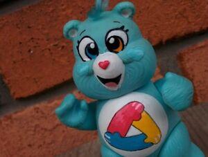 CUSTOM-MADE-Vintage-3-034-Poseable-Care-Bears-UNITY-BEAR-Panda-Pop-Big-Eye-Version