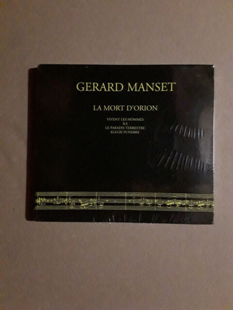 GERARD MANSET - LA MORT D'ORION - CD DIGIPACK (1996) - NEUF!