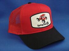 Springfield Garden Tractor Hat - Black / Red - High Crown Trucker