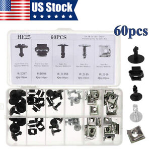 60x Engine Protection Pan Hardware Kit Dowel Pins Clip Speed Nut For VW For Audi