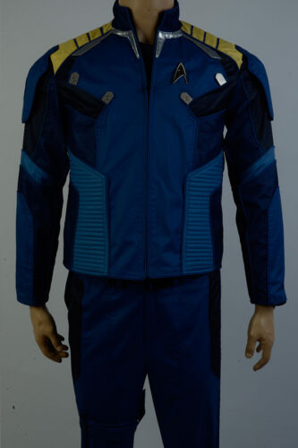 Star Trek Beyond Captain Kirk Cosplay Costume Blue Commander Battle Jacket Only