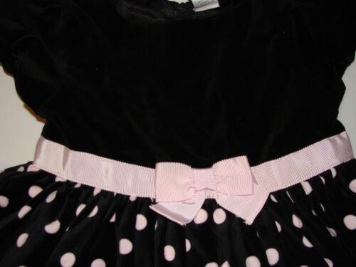 Gymboree Tres Fabulous Girls Size 18-24 months Pink Dot Black Dress NEW