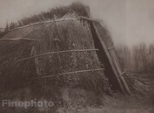 1900/72 Photogravure NATIVE AMERICAN INDIAN Architecture Art EDWARD CURTIS 11x14
