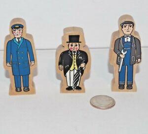 Thomas-amp-Friends-Wooden-Railway-Tank-Engine-Train-Lot-of-3-People-Figures-Hatt