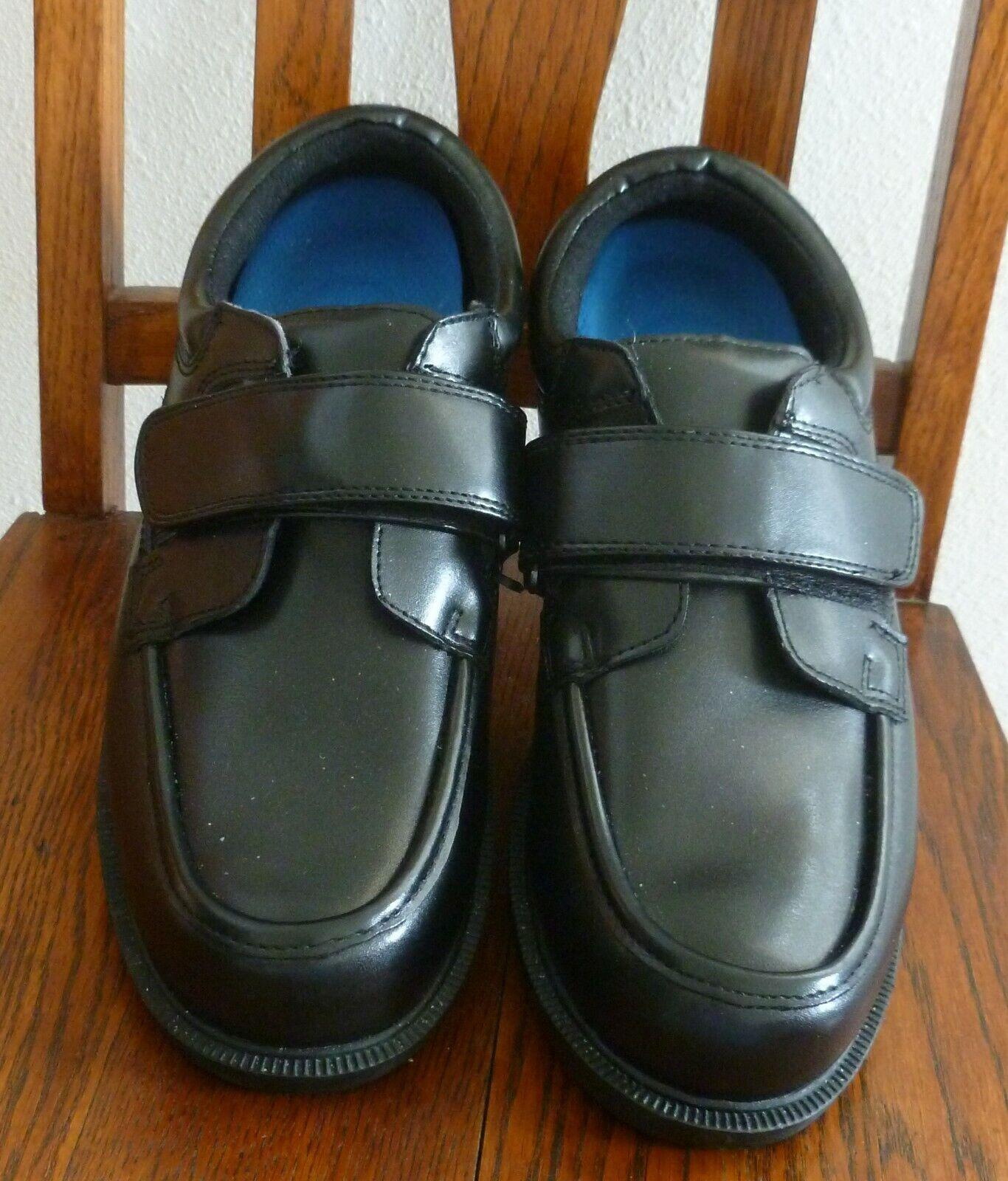 Dr Scholl's Black Leather Comfort SHOES 902337 & INSOLES EZ Strap Slip On 9.5 D