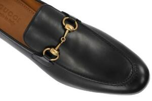 b78d0d81f7d Image is loading NEW-GUCCI-JORDAAN-BLACK-LEATHER-HORSEBIT-LOAFERS-DRESS-