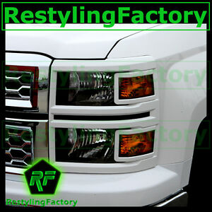 14-15-Chevy-Silverado-1500-Extended-Crew-Cab-Summit-White-Headlight-Trim-Cover