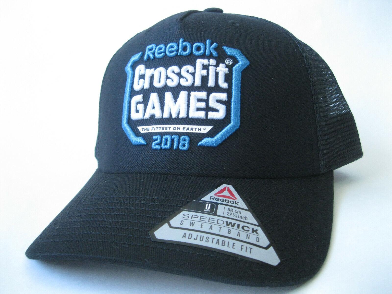 Dialecto Proponer submarino  Reebok CrossFit Games 2018 Trucker Hat Black Cap DN1518 | eBay