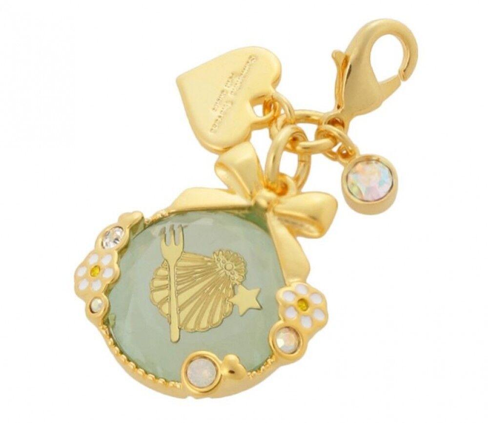 Samantha Thavasa Little Mermaid Shell Starfish Zipper Top Fastener Charm Mint