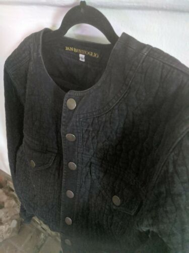 Rare Jan Barboglio 1980's Black Bolero Quilted Den