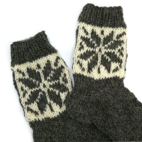 Wellies Handmade Knitted 100/% Pure Sheep Wool Thick Socks for Walking Boots