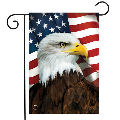 "America In Bloom Patriotic Garden Flag 12.5/"" x 18/"" Floral USA Briarwood Lane"