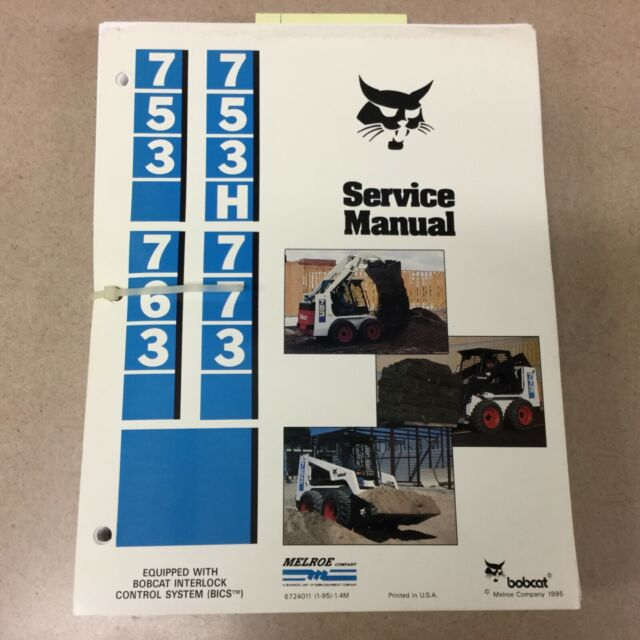 Bobcat 773 Skid Steer Loader Service Manual Manual Guide