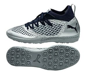 PUMA Men Future Net-Fit 2.3 TT Cleats Soccer Silver Futsal Shoes ... 4365b61a5