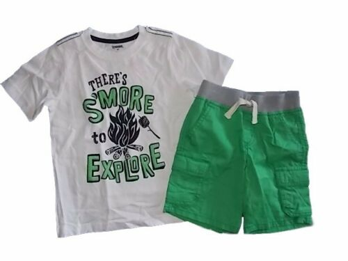 NWT Boy/'s Gymboree Backyard Explorer short sleeve shirt /& green shorts ~ 3T