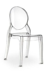Great Image Is Loading PLEXIGLASS ACRYLIC GHOST CHAIR  Victoria Elizabeth Transparent Amber