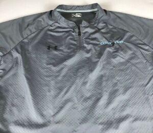 Under Armour Cross Over Windbreaker Mens 2XL Short Sleeve Jacket Heat Gear Zip