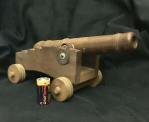 Royal-Navy-Deck-Gun-Large-Hand-Crafted-Solid-Wood-Cannon-29cm