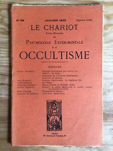 Le-Chariot-n-59-Janvier-1935-revue-Occultisme-Astrologie-Philosophie
