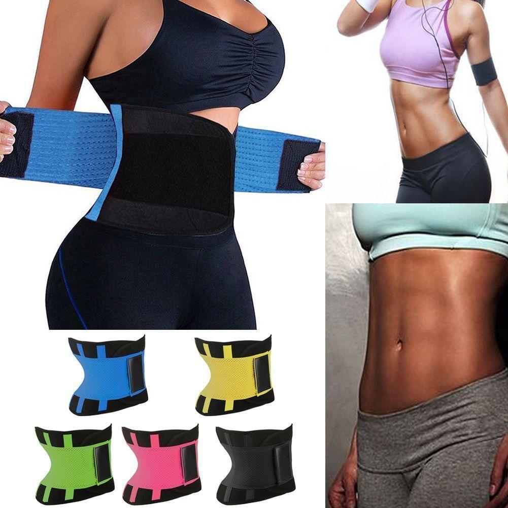 Yoga Slim Fit Waist Trimmer Trainer Belt Weight Loss Burning Fat Body Shaper