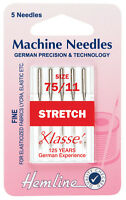 Size 75/11 Sewing Machine Needle - Klasse Stretch Needles Fine - Pack 5