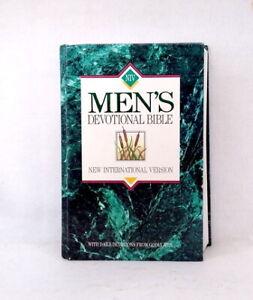 NIV Men's Devotional Bible used hardcover daily devotions from godly men