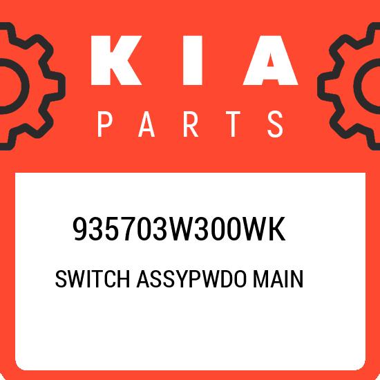 OEM 935703W300WK Left Side Power Window Main Switch For Kia Sportage 2011-2015 k
