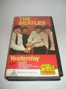 THE-BEATLES-YESTERDAY-VHS-VIDEO-TAPE-PAL-FREE-POSTAGE
