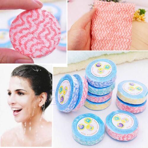 10pcs//Set Magic Compressed Towel Bath Face Towels Washcloths Camping Disposable