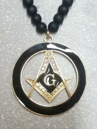 Hip Hop Wood Wooden Necklace Mason Symbol G Masonic Pendant Necklace Bead Iced