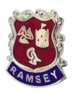 Ramsey Isle of Man Crest Pin Badge