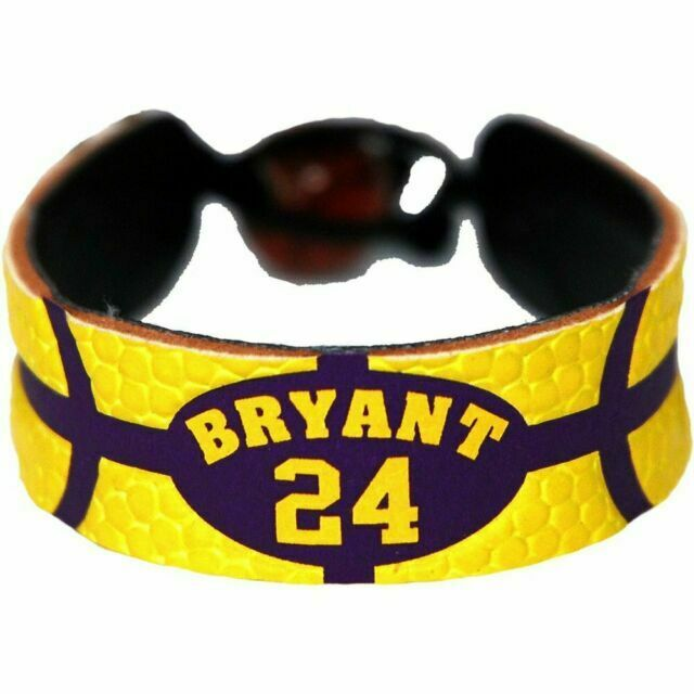 Los Angeles Lakers Kobe Bryant Team Color Basketball Bracelet for ...