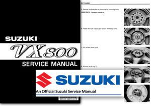 suzuki vx800 workshop service shop manual vx 800 covers all models