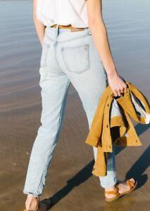 b68fbd2dbaf Image is loading NEW-Madewell-Perfect-Summer-Mom-Jeans-Fitzgerald-Wash-