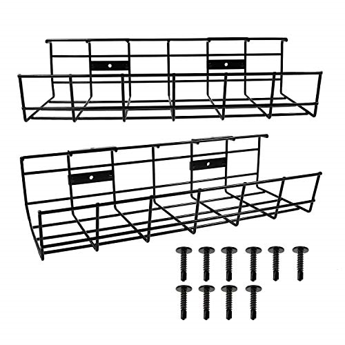 Under Desk Cable Management Tray, Jirvyuk Under Desk Storage for Cable Power for