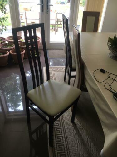 Stylish dark dining chairs wooden originally from BO CONCEPT excellent condition