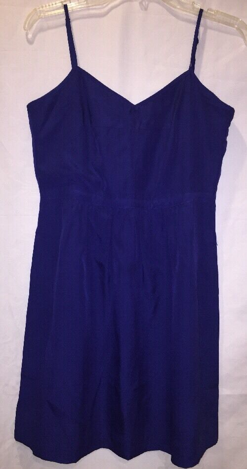 J Crew Dress 6 Deep Cobalt Cami Dress 43785 New With Tags NWT
