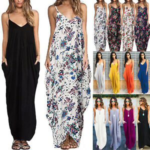 Women-Boho-Long-Maxi-Dress-Loose-Plus-Size-Beach-Holiday-Casual-Summer-Sundress