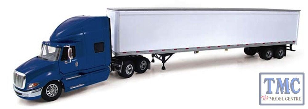 60-0206 First Gear 1 64 SCALE International ProStar+ bluee with White 53' Trailer