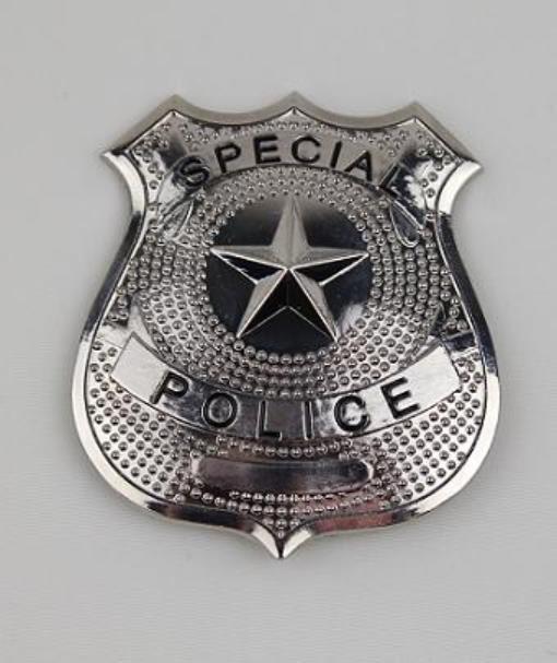 SPECIAL POLICE Cop Metal Badge Shield Silver Nickel Copper Replica Prop Costume