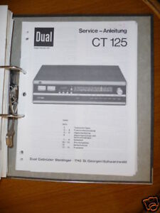 Tv, Video & Audio Original!!! UnermüDlich Service-manual Für Dual Ct 125 Tuner