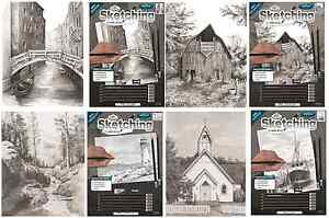 ANIMALS & LANDSCAPES SKETCHING MADE EASY DRAWING KITS & GRAPHITE PENCILS SET
