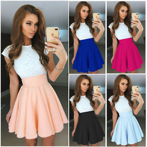 Women-Lace-Short-Sleeve-Dress-Cocktail-Party-Evening-Dress-Formal-Prom-Dresses