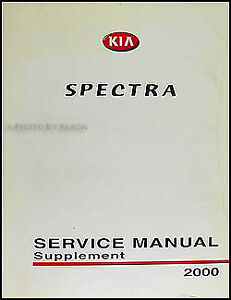 2000 kia spectra shop manual supplement original repair service book rh ebay com 2000 kia sephia service manual 2000 kia sephia service manual pdf