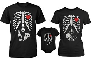 Funny Family Matching Shirts Daddy Mommy Baby X-Ray Halloween ...