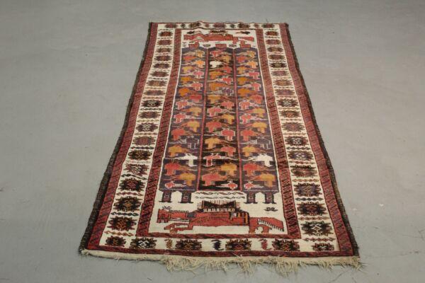 Antik Teppich Handgeknüpfter Türkische 245 X 100 Cm Wasserdicht, StoßFest Und Antimagnetisch